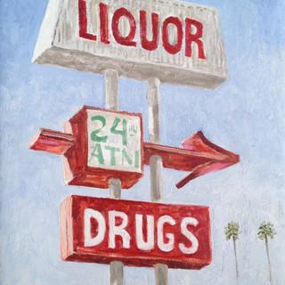 Liquor, drugs, money USA 27.5x35cm Oil on canvas California 2014