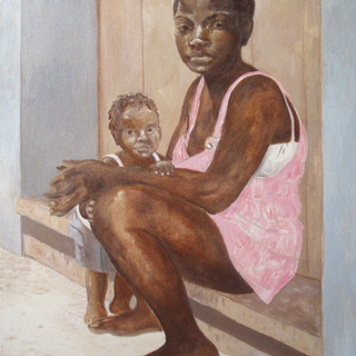 Displaced by war 81X61cm Oil on canvas Colombia 2006