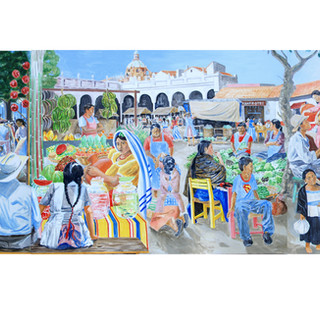 """Mexico in Florida"" 4.59x1.22m Acrylic on canvas USA 2015"