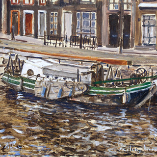 The old small boat 40.5x30.5cm Oil on board Netherlands 5/2016