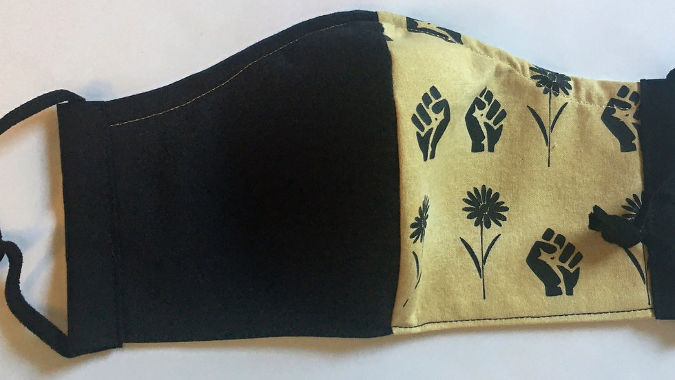Black Lives Matter Adult Fitted Mask by Jillian
