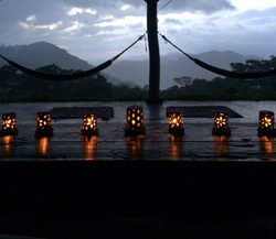candles in pavilion