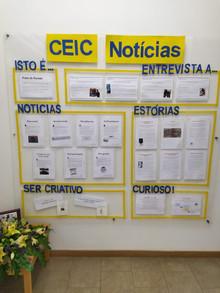 A Primeira edição do Jornal CEIC notícias já está na parede!