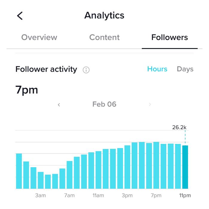 Tik Tok Follower Activity