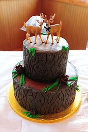 Deer Wedding Cake
