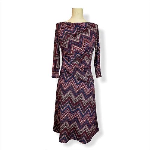 Robe Drapée Ethnic violet