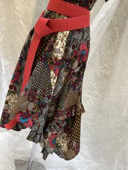 Robe croisée Art Deco
