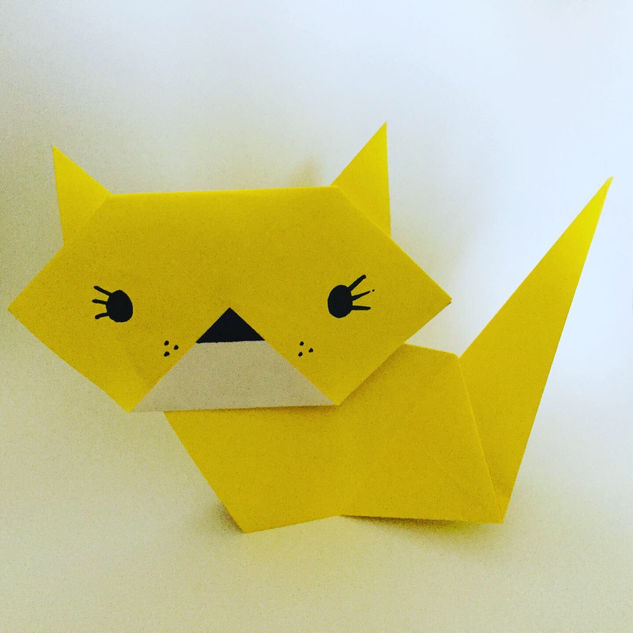 Cats. Cute & easy to make. A great way to introduce kids to paper folding.