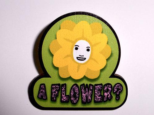 Genesis - 'A Flower ?' pin-badge