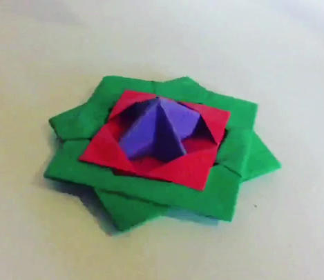 Origami Spinning Top ( Slo-mo )