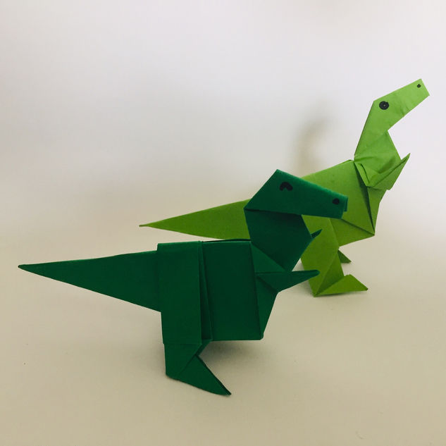 A pair of T-Rex ( unused ). A slightly different method used than for the the T-Rex I made earlier in the project.