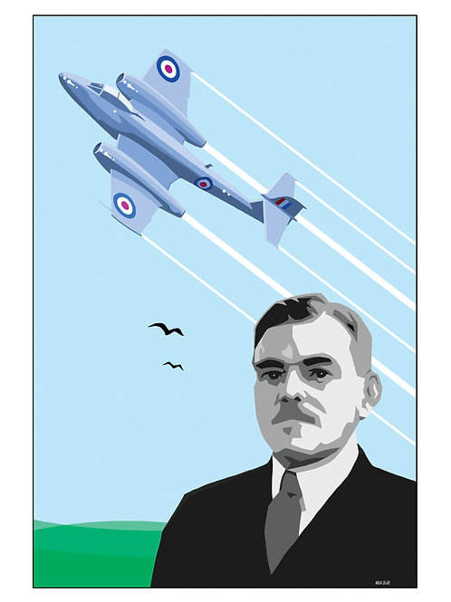 'Frank Whittle & The Jet Engine' illustration.