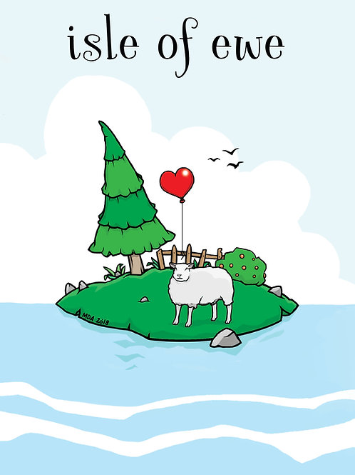 'Isle of Ewe' Valentine card