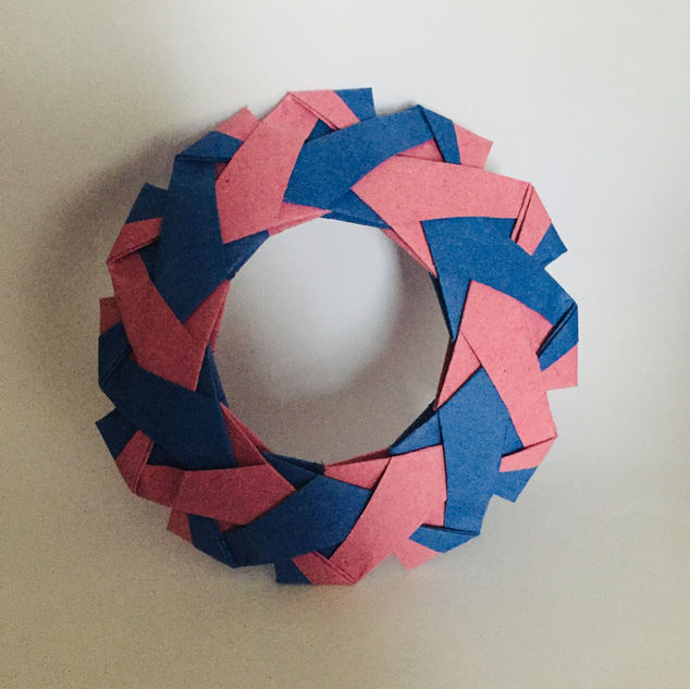Celtic wreath. Modular origami - each band is a separate piece of paper.