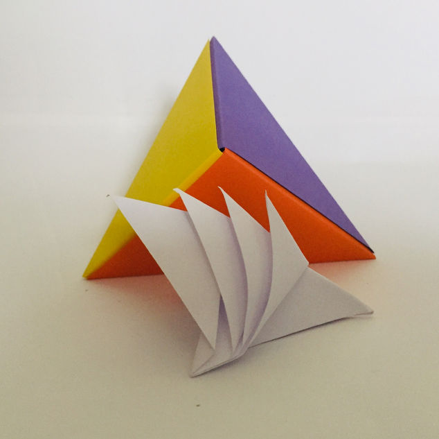 The Sydney Opera House ( unused ) situated in front of a 'fox box' Tetrahedron. Like you do.
