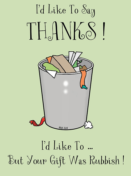 'Thank You ( Not )' card