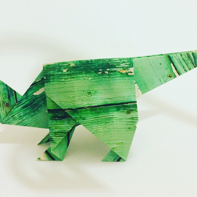 An Iguanadon. A good choice of colour brings this one to life.