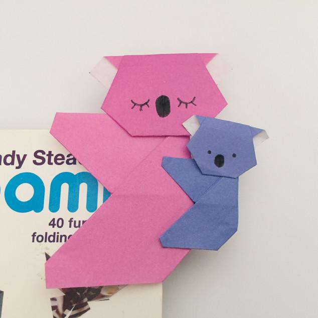 A koala bear bookmark. Nice & easy, but looks really good, and really cute.