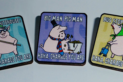 Pink Floyd - 'Pigs ( Three Different Ones )' - Complete set of 3 pin-badges