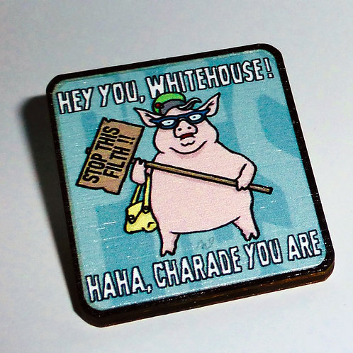 Pink Floyd - 'Pigs ( Three Different Ones )' - Whitehouse pin-badge