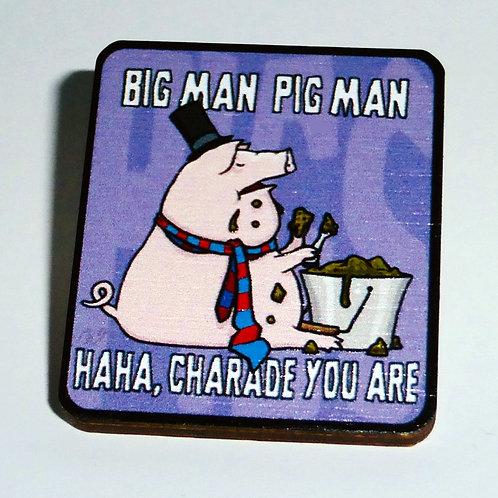 Pink Floyd - 'Pigs ( Three Different Ones )' - Big Man, Pig Man pin-badge