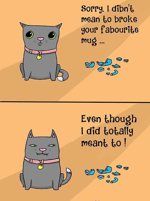Naughty Cat Mug
