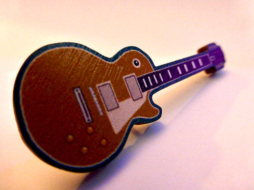 'Les Paul Gold-top' pin-badge