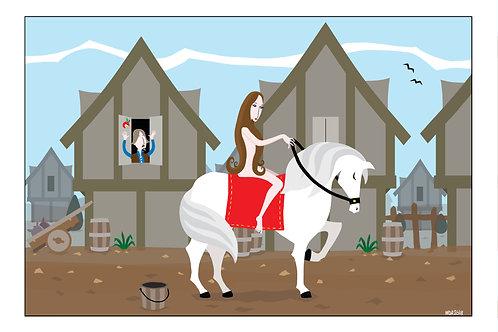 'Lady Godiva' illustration