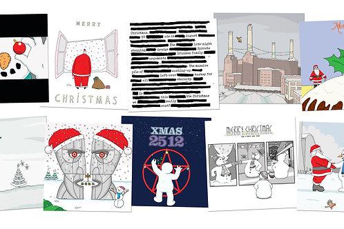 Album-cover Christmas cards