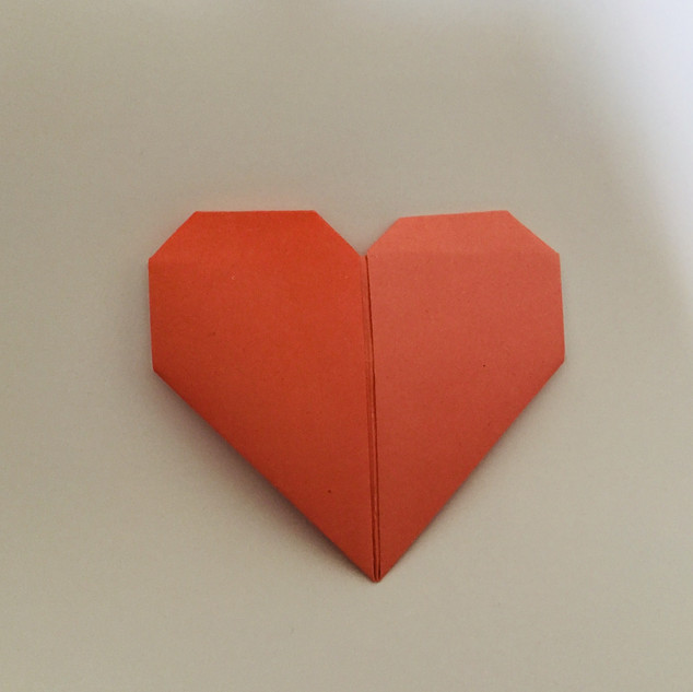 A heart. Along with the butterfly, this was the first model I attempted. It's not too difficult, so it's a good one to teach.