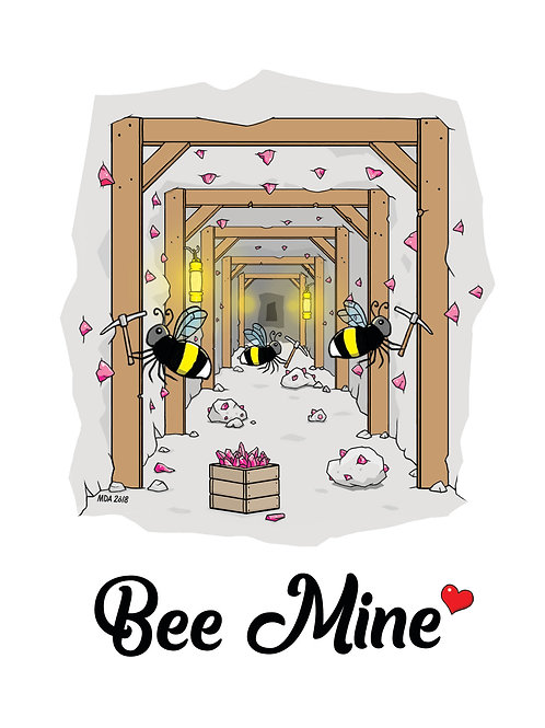 'Bee Mine' Valentine card