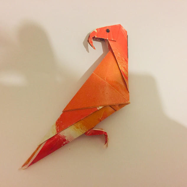 A parrot. What's orange & sounds like a carrot ? At the time was the most difficult model I had attempted.