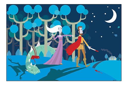 Genesis - 'The Lady Lies' A4 illustration