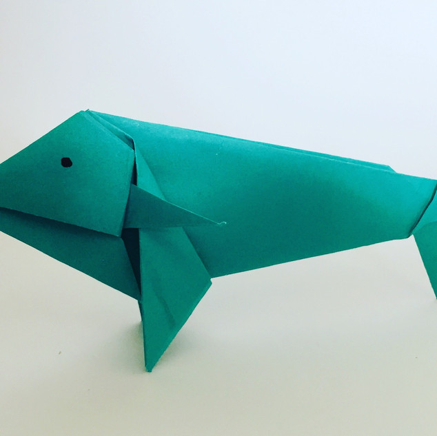 A fish. It was quite difficult to get right. He looks a bit glum.