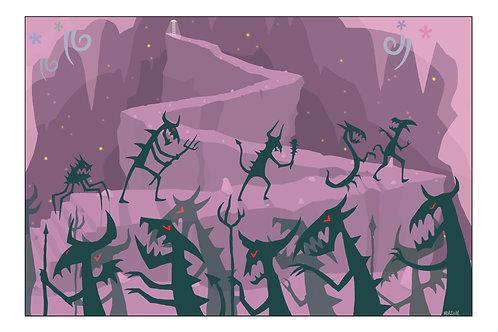 Genesis - 'Cul-de-Sac' A4 illustration