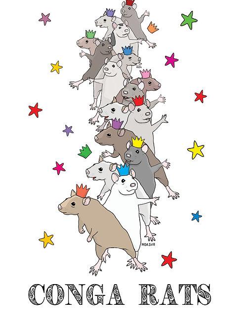 'Conga-Rats' card