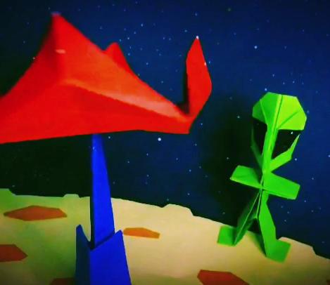 Origami Alien UFO Spinner