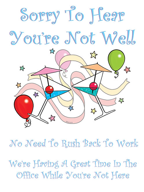 'Get Well ... Whenever' card