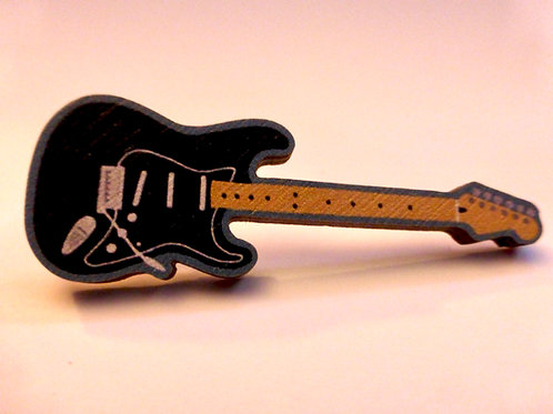 'Black Strat' pin-badge