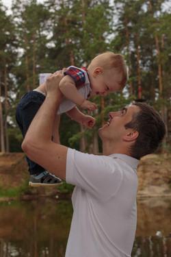 Vadim and his happy son, family, Pho