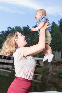 Dasha & her son, family, Fun