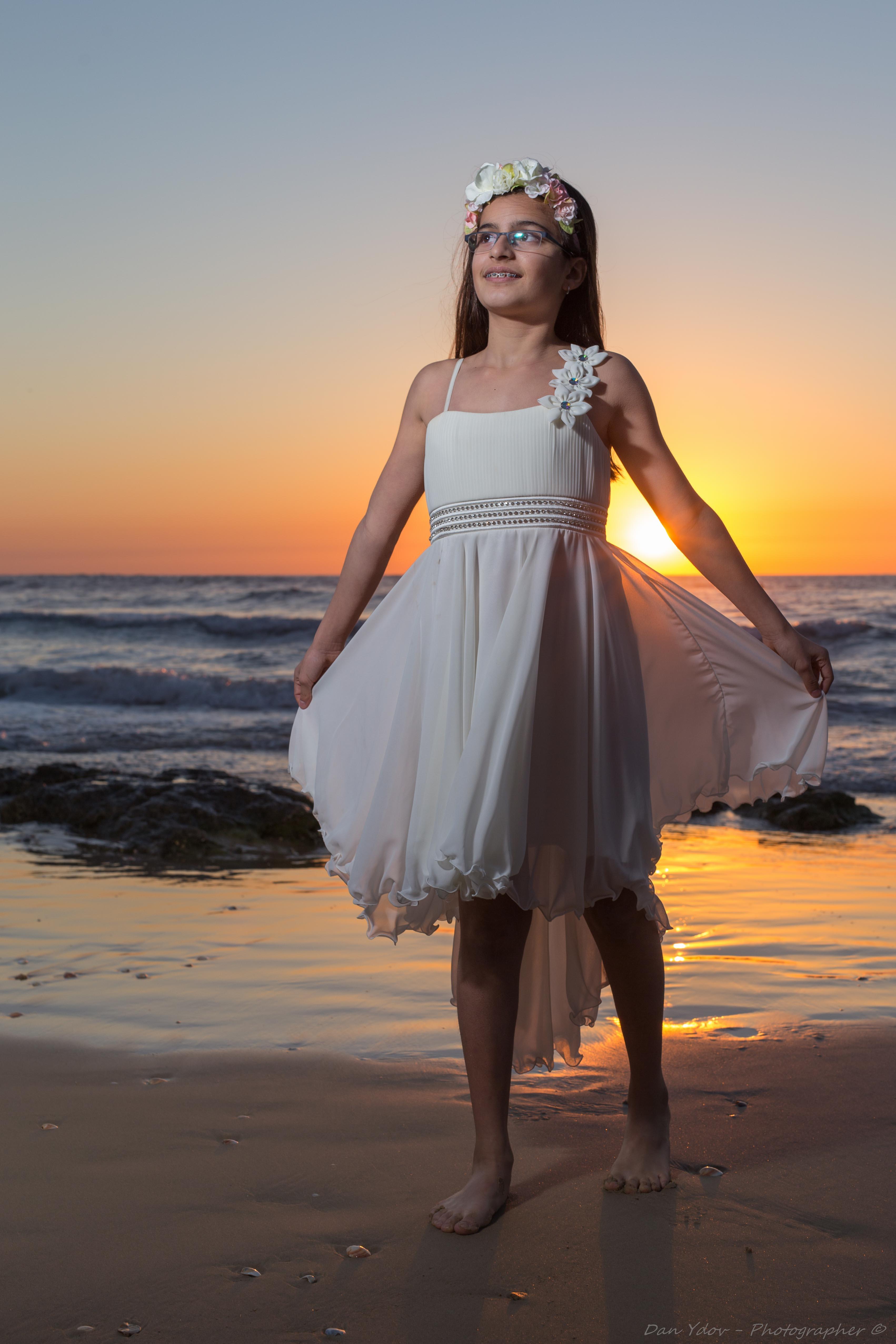 צילום בת מצווה, בוק בת מצווה בים