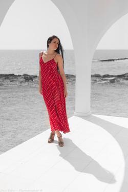 Woman in a red dress Portrait