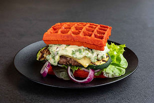 Be Silly pistolet burger waffle