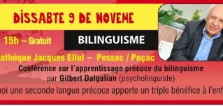 Conferéncia suu bilinguisme - Pessac (09-11-2019)