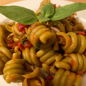 Pasta with Spinach & Pistachios