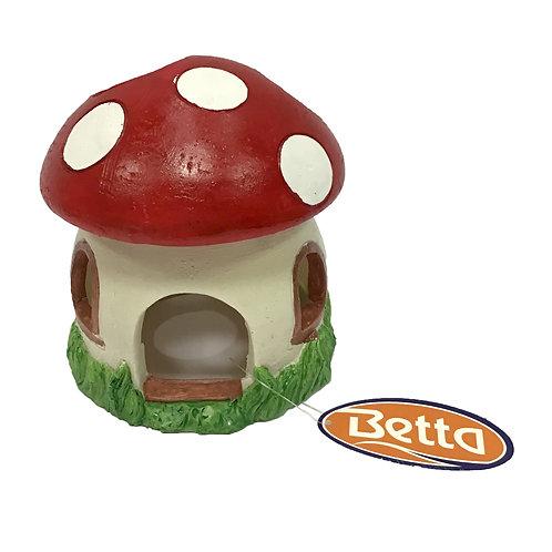 Betta Large Red Mushroom House