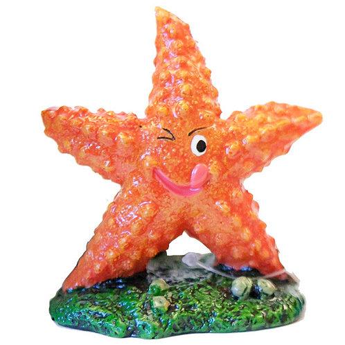 Orange Starfish 9cm Ornament