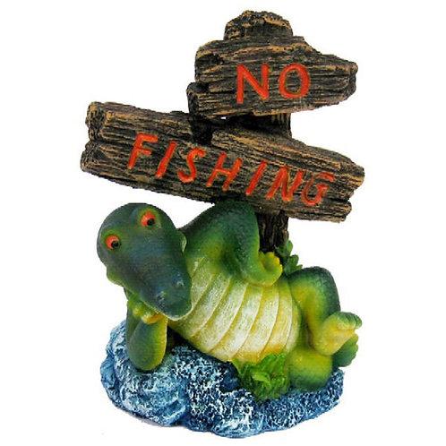 Croc No Fishing Sign