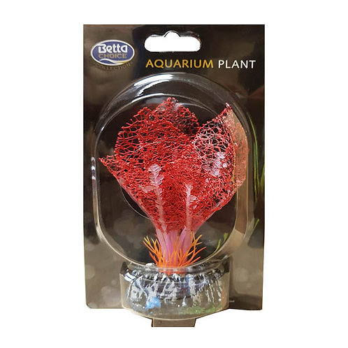 Betta Choice 13cm Silk Red Lace Plant